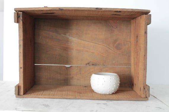 Vintage wooden transport box, Chicorée, wooden locker, old storage, storage, wooden box, chic campaign, farmhouse decor