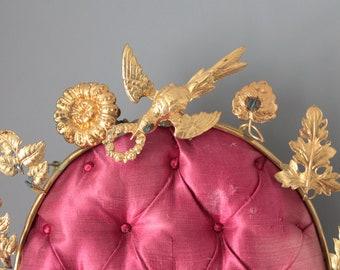 Décor de globe de mariée avec son support, cadeau de mariage, décor de mariage, porte alliance, 1920, MAR181470