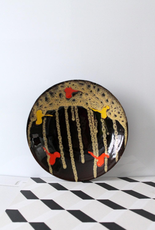 plat vintage fran ais poet laval c ramique vintage. Black Bedroom Furniture Sets. Home Design Ideas