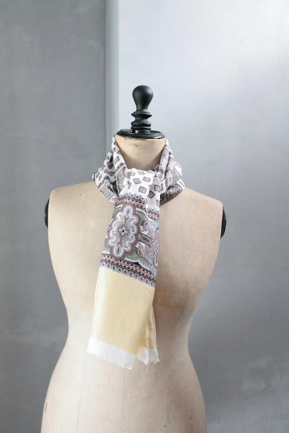 Foulard vintage en soie à motif de cachemire, foulard chic, accessoire de mode, mode vintage, FOUL181532
