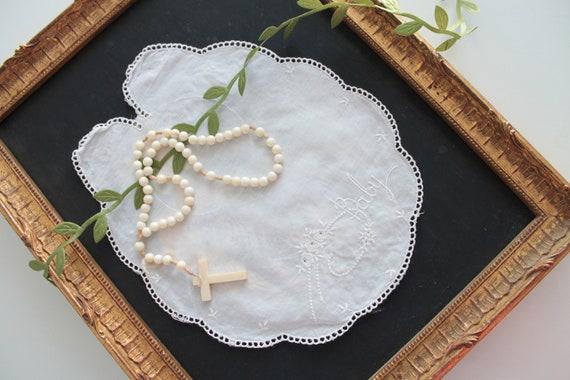 """Bavoir en lin brodé """"Baby""""pour bébé, serviettes de table pour bébé, protection pour repas, set de table baptême, ENF181499 4"""