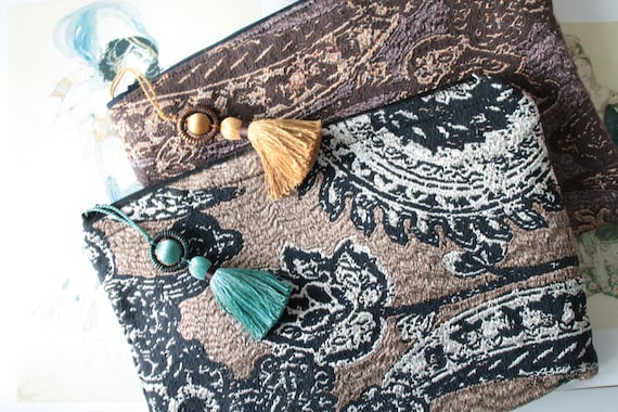 Women's tablet pouch, Gift for her, Unique Gift, Unique Creation, Makeup Kit, Bag Organizer