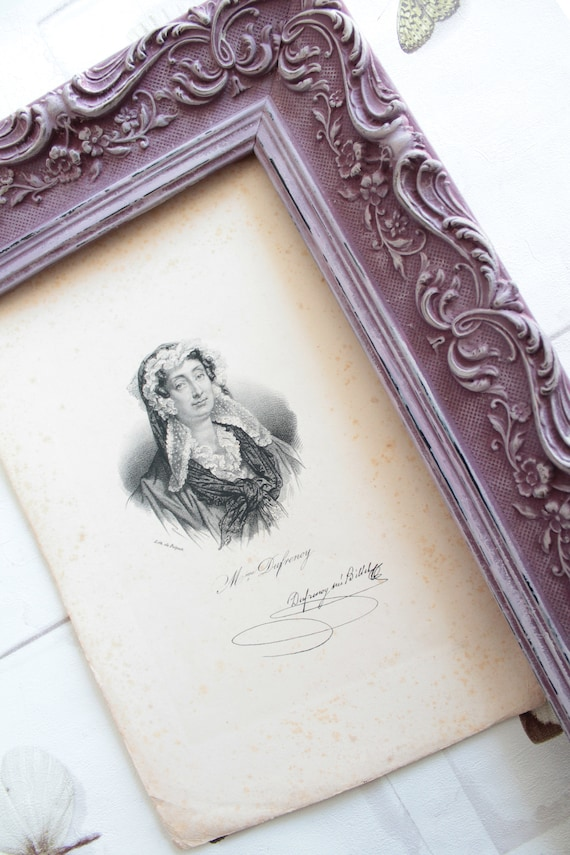 Old Delpech lithograph circa 1840, famous women of the time, with signature, beautiful old portraits, ILL171297/12
