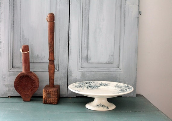 Objets de métier en bois français, ustensile de cuisine ancien, ustensile pour beurre, BOIS191863