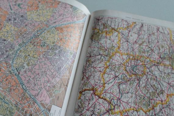 4 Planches anciennes Plan de Paris 1932 Larousse, Dictionnaire Larousse, affiche ancienne, Affiche originale, Paris 1930, Art déco