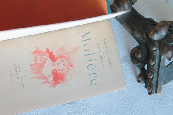 Livre ancien français de 1893, Oeuvres complètes de Molière, Les femmes savantes, Le barbouillé, Les amants magnifiques, Illustré, LIV181571