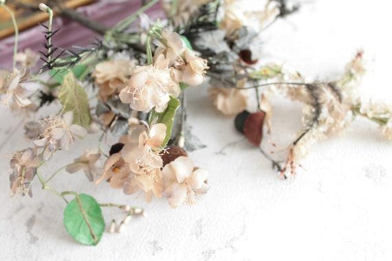 Antique Bouquet for bride, flowers for globe,unique bouquet, globe de mariage, wax made antique bouquet, BOUQ181402