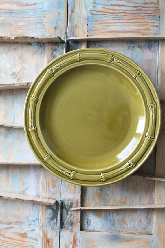 GIEN France serving round plate / PLT160547 / Bamboo