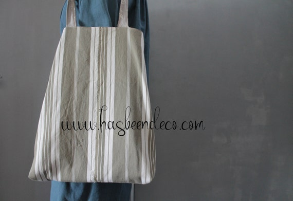 Tote bag shabby reversible chic mattress canvas, gift for her, shoulder cloth bag, beach bag, SAC171097