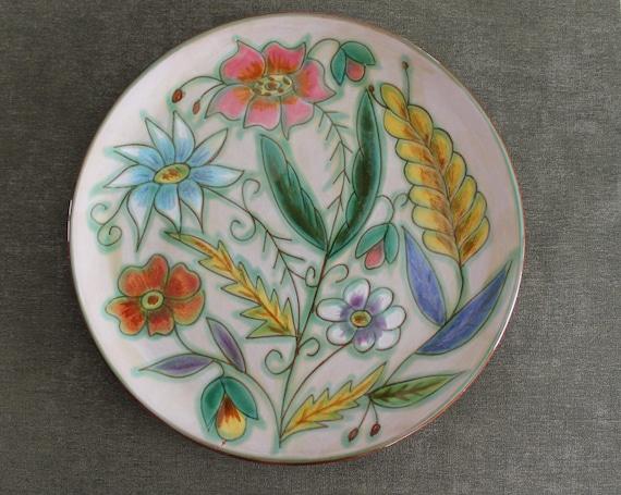 Vintage decorative ceramic plate from Madeleine Antico France, La Colla, art ceramic and pottery, around 1960, 150126