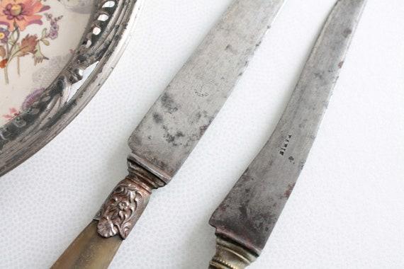 Couteaux de cuisine anciens, couverts de table anciens, ustensile de cuisine, couteau de table, couverts et couteaux, COUT181631