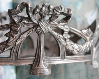 Old ornate metal planter, Old French ornament, art deco, 1930, nineteenth century, old décor, bourgeois décor