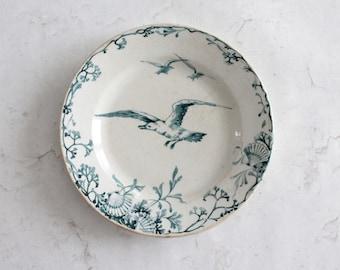 French antique Choisy Le Roi plate, seascape, AST181353