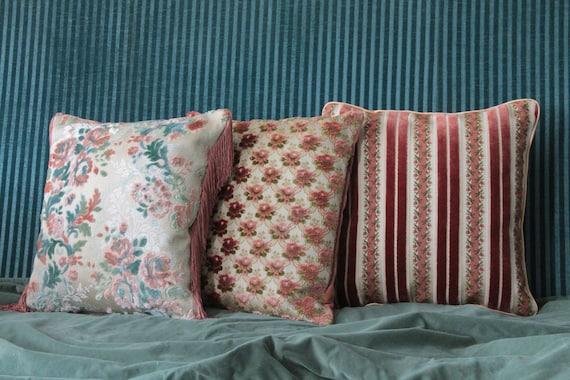"Editor's furniture velvet cushion, 40x40cm flower cushion, 15 1/2"" with trim cushion, COUS201921"