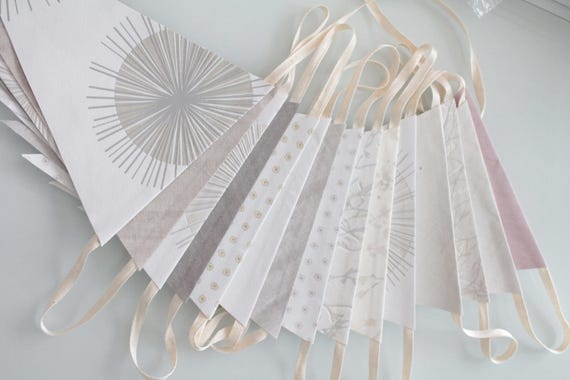 Great for wedding, nursery decor, unique paper Garland made by hand, GUIR171278