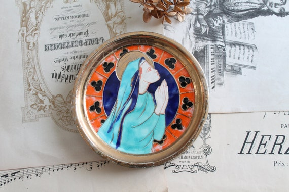 Round Prayer Wall Decor, Enameled Religious Decor, RLG160341
