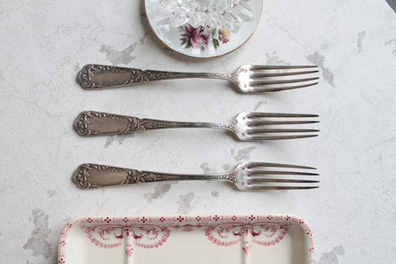 Silver plated cutlery, 3 forks, COUV181589
