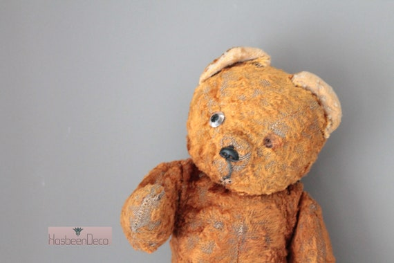 Ancient French bear, teddy bear, old toy, old bear, shabby chic, POUP181529