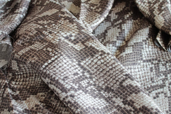 French silk python, high-end vintage silk satin, luxury vintage fabric, French silk with flowers, TIS191827 26