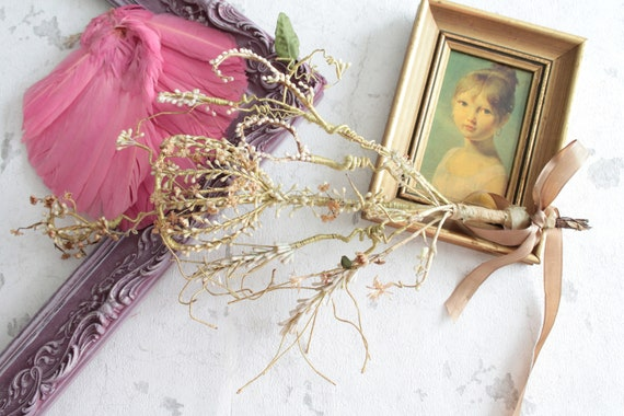 Antique bouquet, wax bride bouquet, unique bouquet, wax flowers, gift for bride, antique flowers