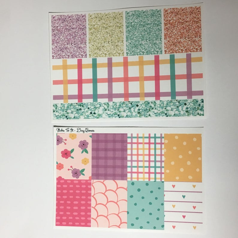 Pretty in Spring ECLP Weekly Kit Mambi Happy Planner Stickers Check Lists Daily Boxes Washi Strips