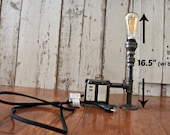 Industrial Style light with Vintage bulb