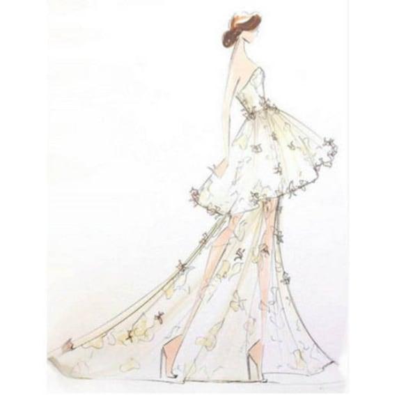 Design Your Own Wedding Dress | Design Your Own Wedding Dress Deposit Etsy
