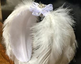 Swan Lake Ballet Feather Headpiece, Natural White Feather Tiara, Ballet Headpiece, Ballerina Hair accessory, swan lake costume