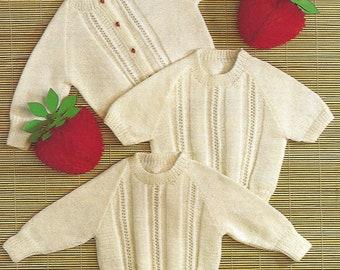 """My Little Pony Knitting Pattern Sweater Girls DK 22-28/"""" Strawberry Fields"""