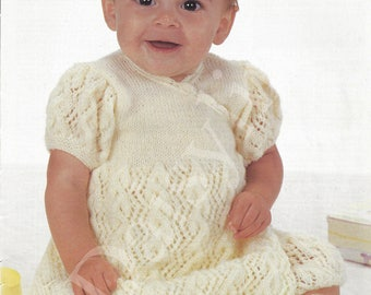 PDF Instant Download   Baby Wrapover Dress  Knitting Pattern (72)