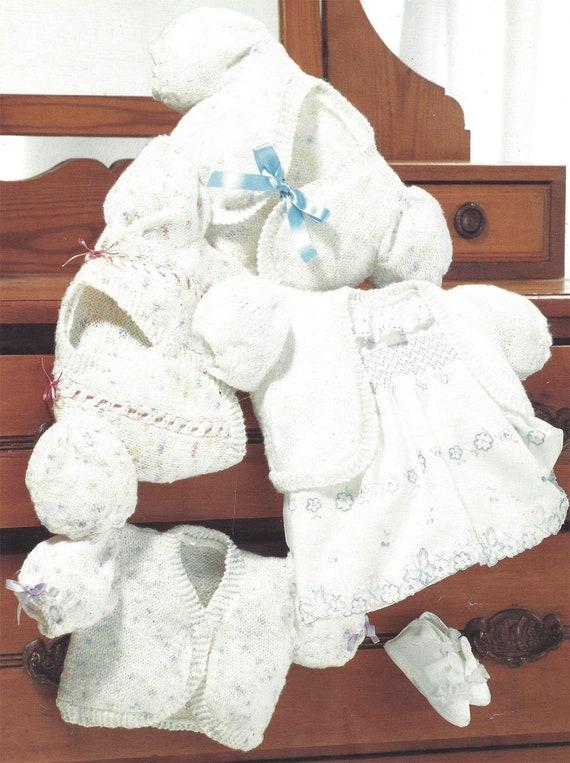 Pdf Instant Digital Download Baby Girls Easy Fast Knit Boleros