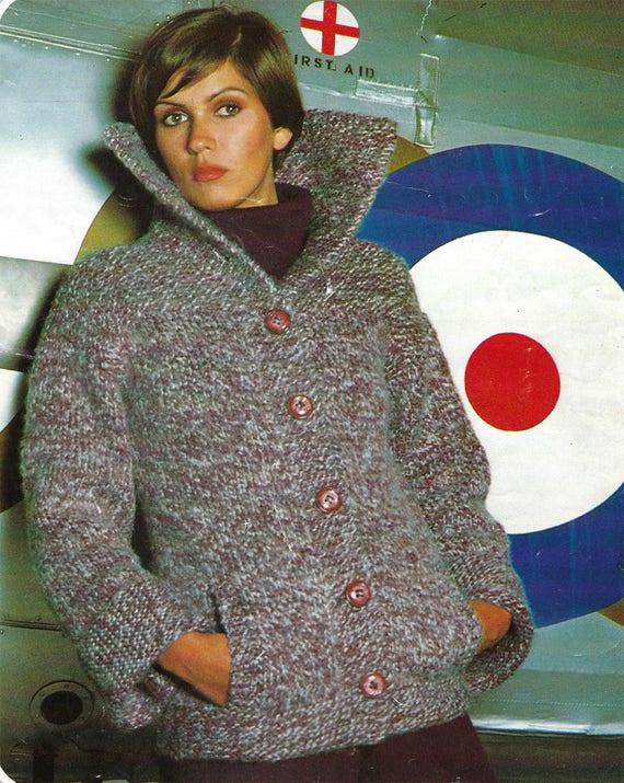 Pdf Instant Digital Download Ladies Jacket Knitting Pattern Etsy