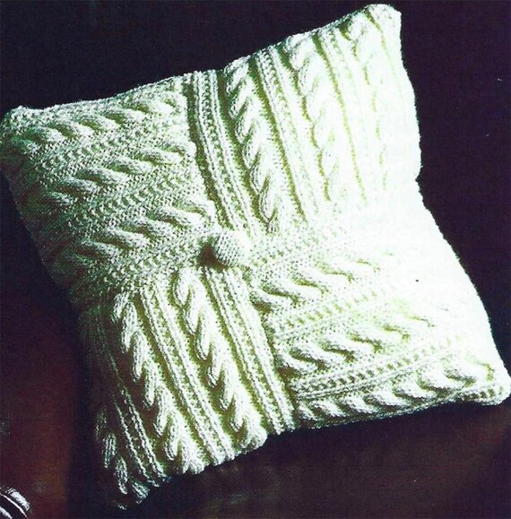 King Cole Aran Cushions Knitting Pattern 4146