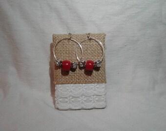 silver plated beauty earrings