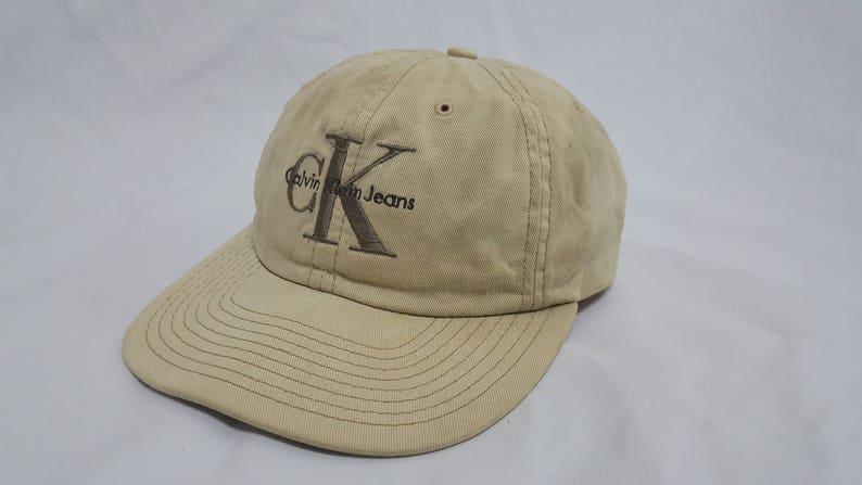 854ff5fcb26 Vintage CK Calvin Klein Snapback Embroidered Big Logo Spellout