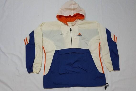 Etsy Cremallera Con Adidas Cortaviento 14 Capucha Vintage Color 1Bw0v4