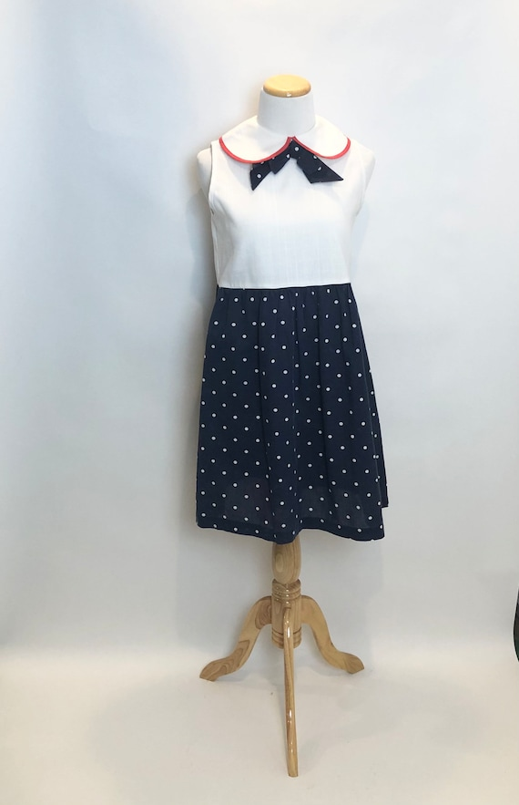 JC Penney Red, White, Blue Vintage Junior Dress