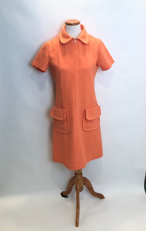 Vintage Orange House Dress 1970
