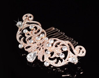 Gold comb, rhinestone comb, pearl and rhinestone hair comb, hair comb, wedding comb, gold and rhinestone comb