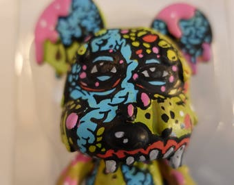"""Nick DiFabbio Ghostfreehood 5"""" Hand painted & Signed Mini Qee Toy"""