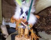 Your PET KACHINA DOG Border Collie or Custom Dog, Southwest Hopi Inspired, Handmade One of a Kind Kachina Dolls, Spirit Animal Totems, Dogs