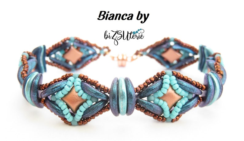 BIANCA bracelet  EN instant download beading pattern with image 0