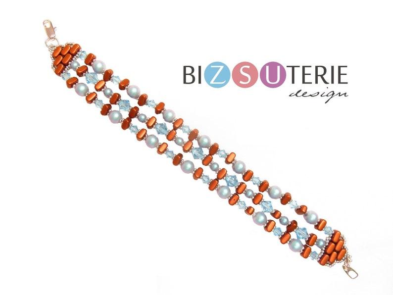 MIA bracelet  instant download beading pattern with IOS par image 0