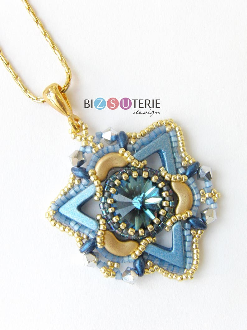 Tristan pendant  instant download beading pattern with AVA image 0