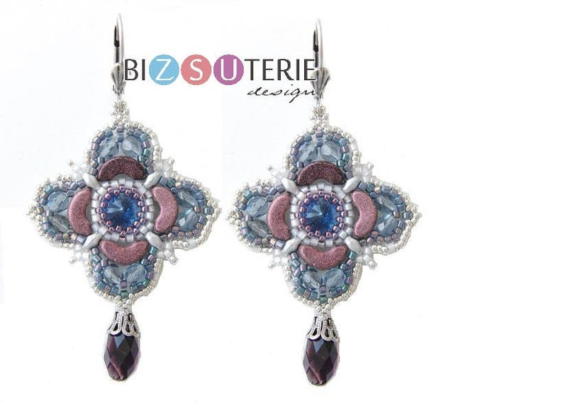 Imbo necklace and earrings  instant download beading pattern image 0