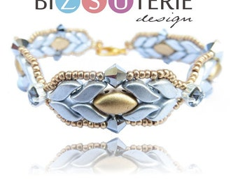Eda bracelet - instant download beading pattern with StormDuo and IrisDuo beads