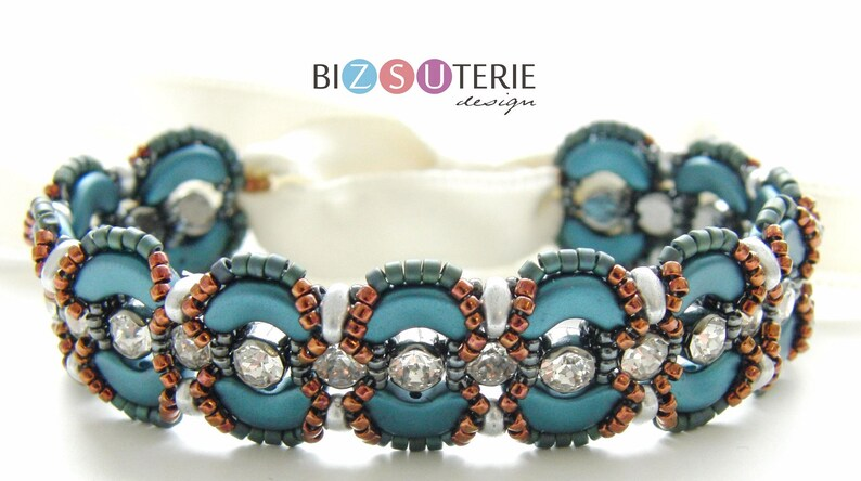 Belle bracelet  instant download beading pattern with Arcos image 0