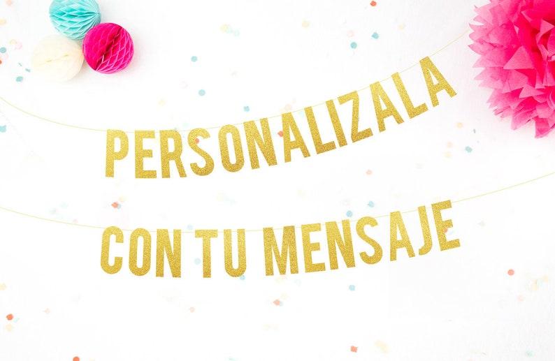 Despedida de Soltera Guirnalda Bachelorette Party Spanish Glitter garland . Letras Purpurina Dorada Fiesta Casada s\u00ed Presa No