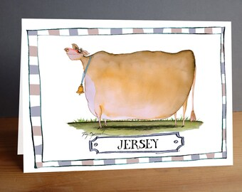 Jersey Cow -  fun greeting card from tony fernandes design