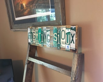 Fighting Sioux License Plate Art